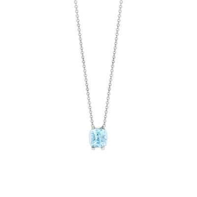 Collier VAN BRILL or 750 blc topaze bleue traitee - vue V1