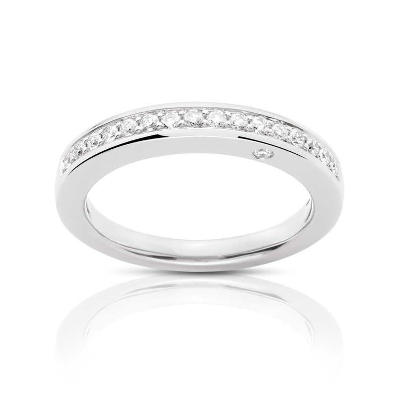 Bague VAN BRILL or 750 blanc diamant