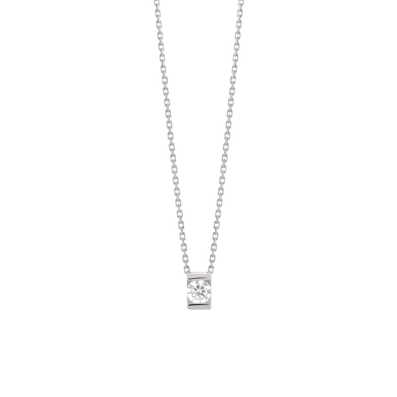 Collier VAN BRILL or 750 blanc diamant
