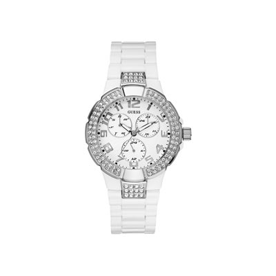 Montre Guess femme multifonctions blanche