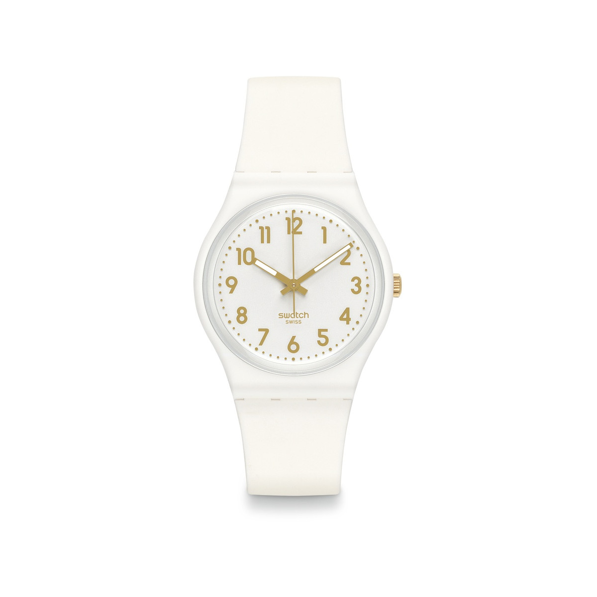 Montre Swatch femme silicone blanc