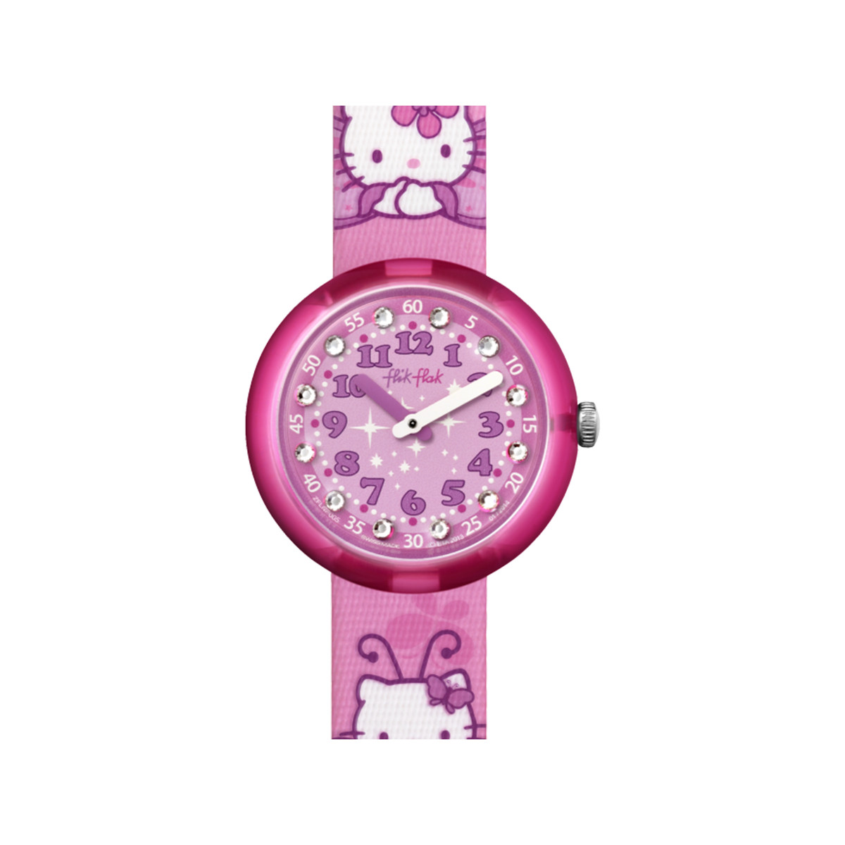 Montre Flik Flak fille Kitty Butterfly rose - vue 1