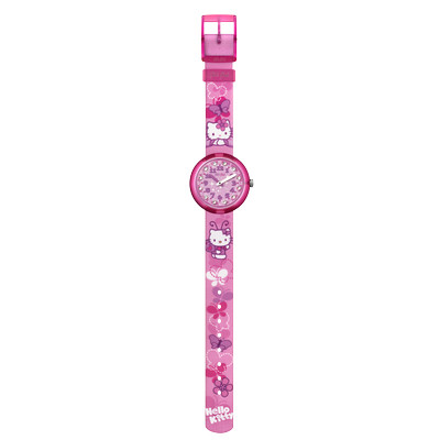 Montre Flik Flak fille Kitty Butterfly rose - vue VD1