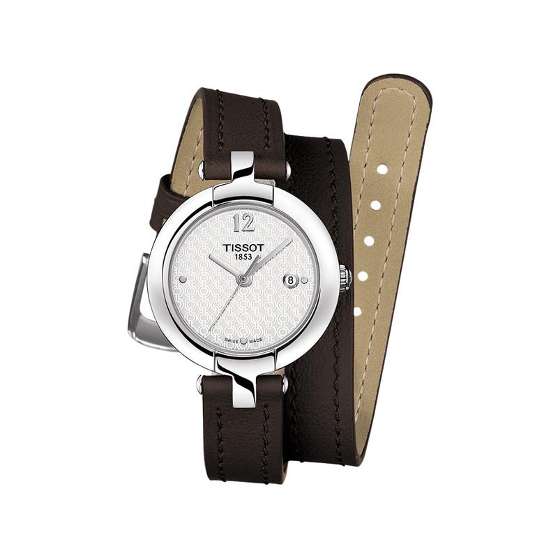 prix raisonnable meilleur prix pour prix spécial pour Montre Tissot femme acier bracelet double tour