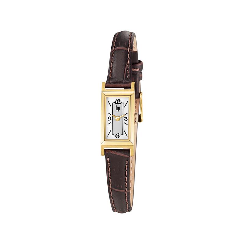 montre rectangulaire femme bracelet cuir