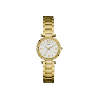 971246bc503f4 Montre GUESS femme acier doré jaune cristaux - Femme - modèle ...