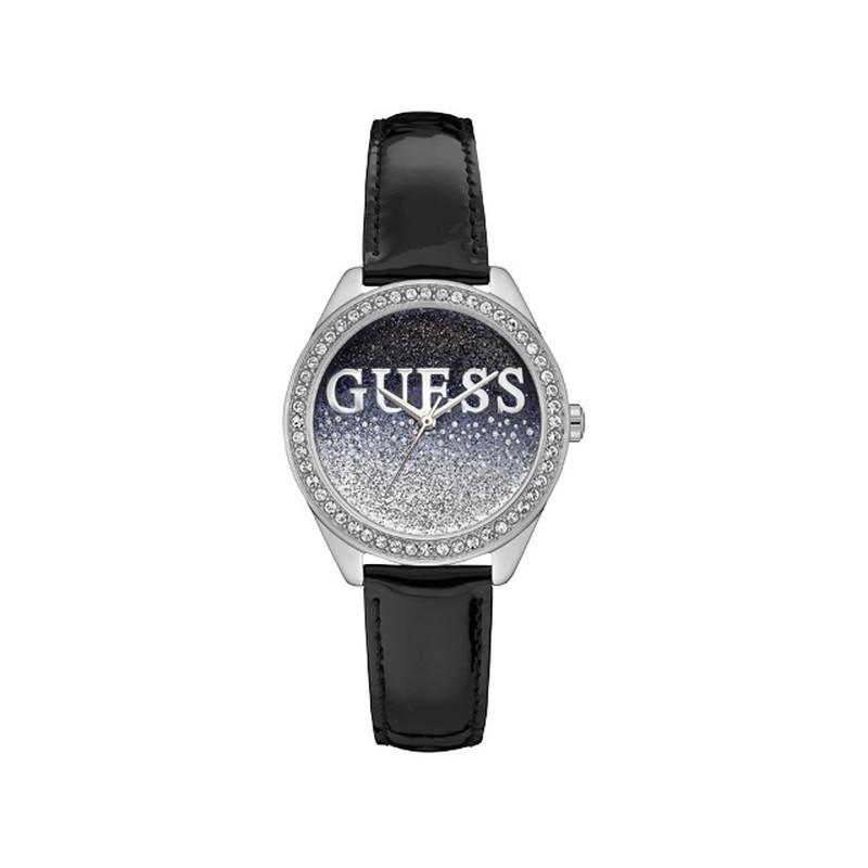 33e9c10fb23 Montre Guess femme acier bracelet cuir - Femme - modèle W0823L2