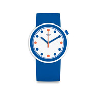 Montre Swatch femme silicone bleu