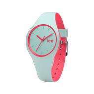 Montre Ice Watch mixte silicone bleu et rose