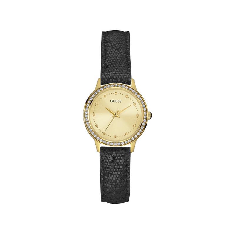 Montre bracelet cuir femme guess