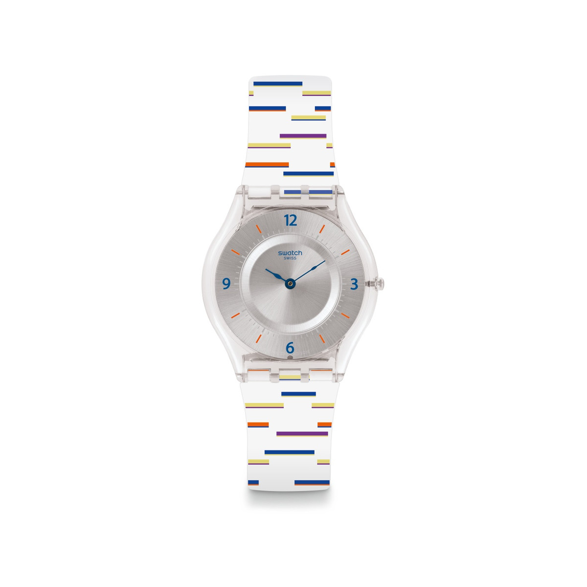 Montre Swatch femme silcone multicolore
