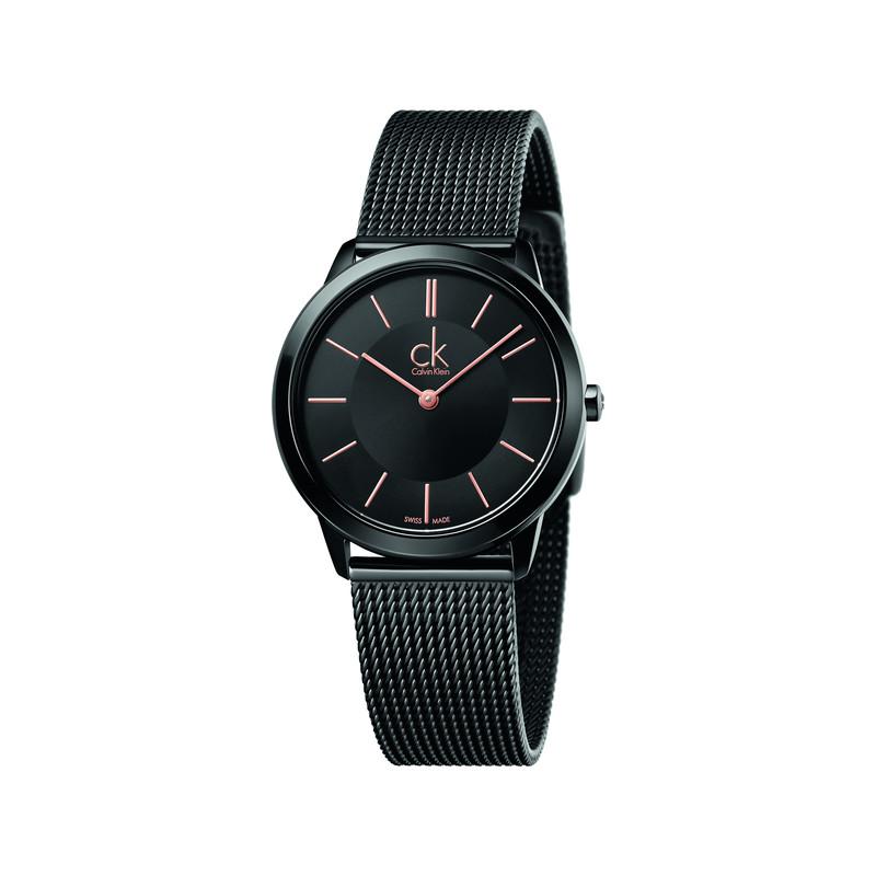 montre Calvin Klein femme acier noir - Femme - modèle K3M22421  57834778c1a