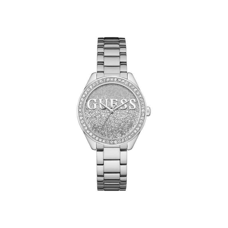 935524ecd446 Montre Guess femme acier glitter cristaux - Femme - modèle W0987L1 ...