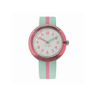 Montre FLik Flak mixte Color Block Turquoise