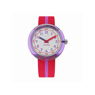 Montre Flik Flak mixte block purple rose