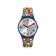 Montre Swatch femme plastique silicone multicolore