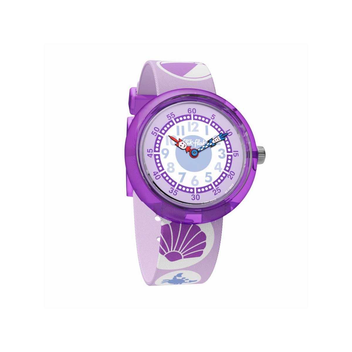 Montre Flik Flak mixte Girlie Beach violet