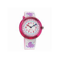 Montre Flik Flak fille Octostripe rose