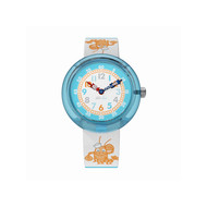 Montre Flik Flak mixte Lobster Stripe bleu