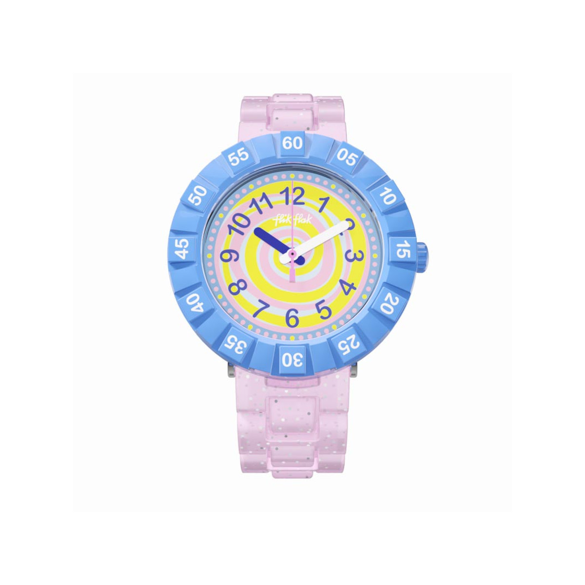 Montre Flik Flak fille Swirly Candy rose