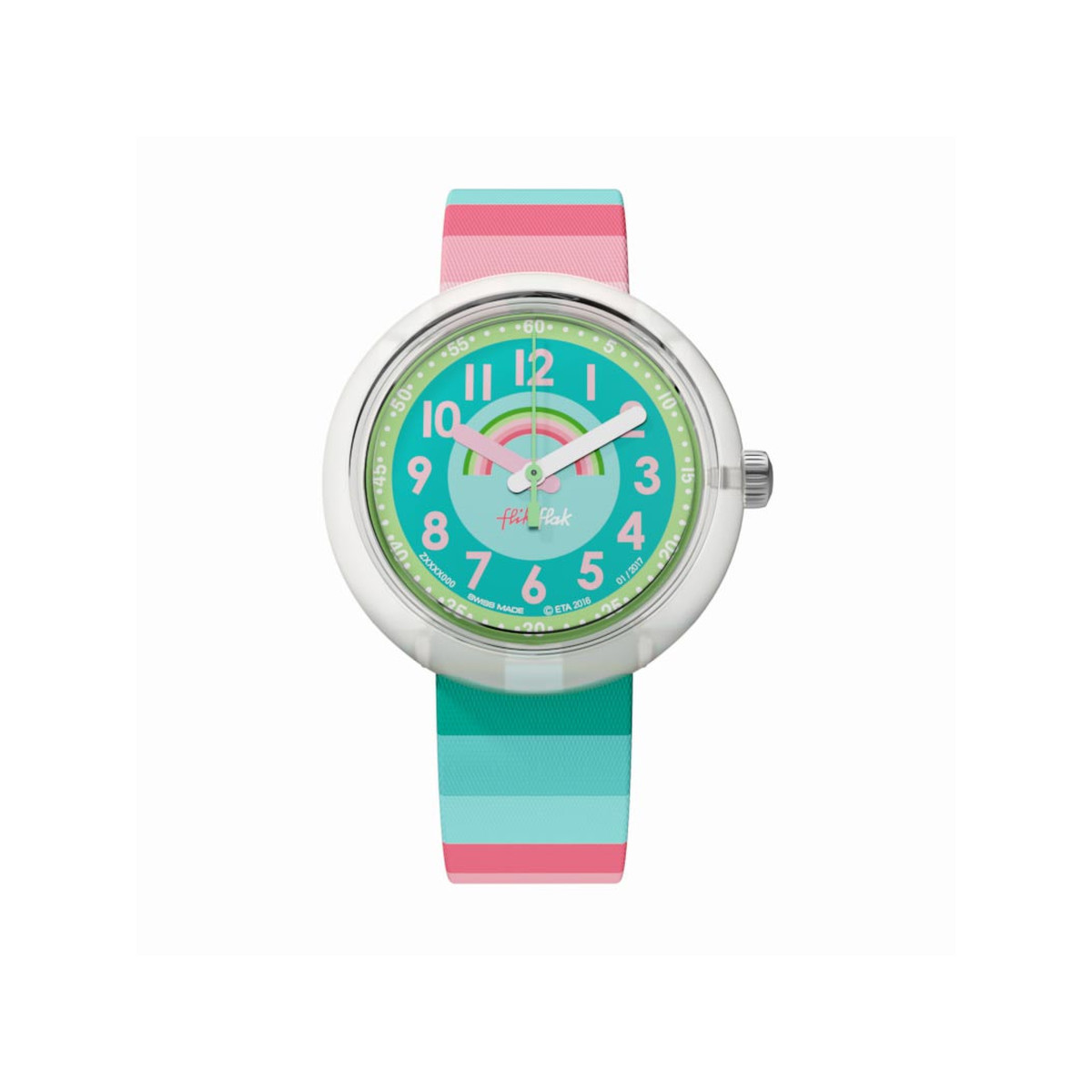 Montre Flik Flak fille Stripy Dreams multicolore - vue 1