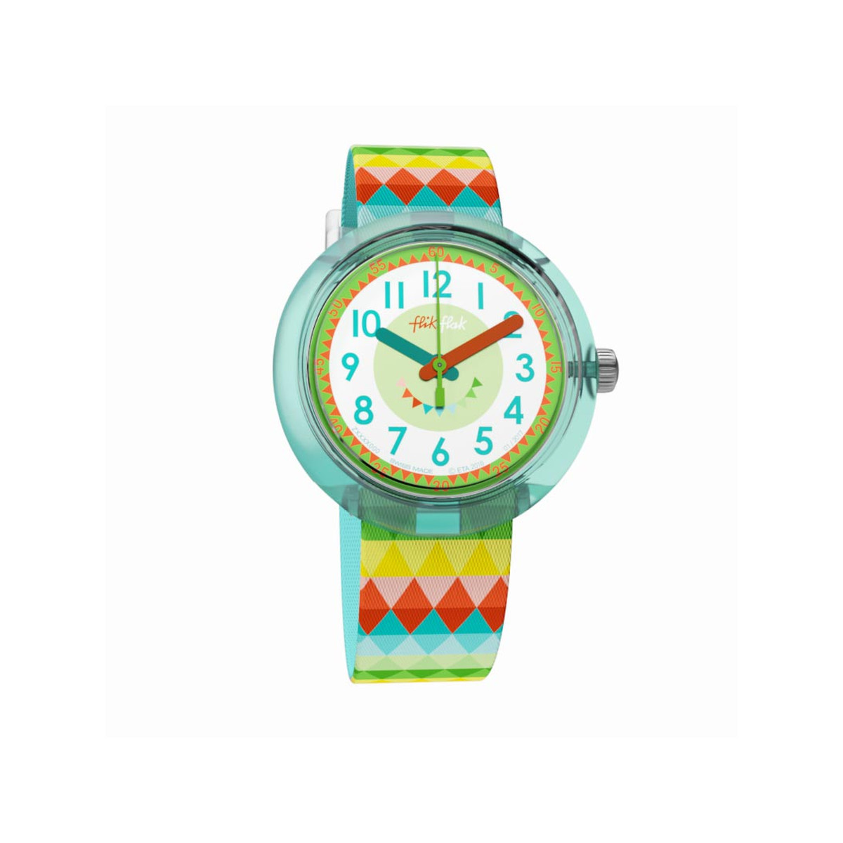 Montre Flik Flak fille Sweet Flags multicolore - vue 1