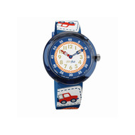 Montre Flik flak garçon Camping Badge Blue