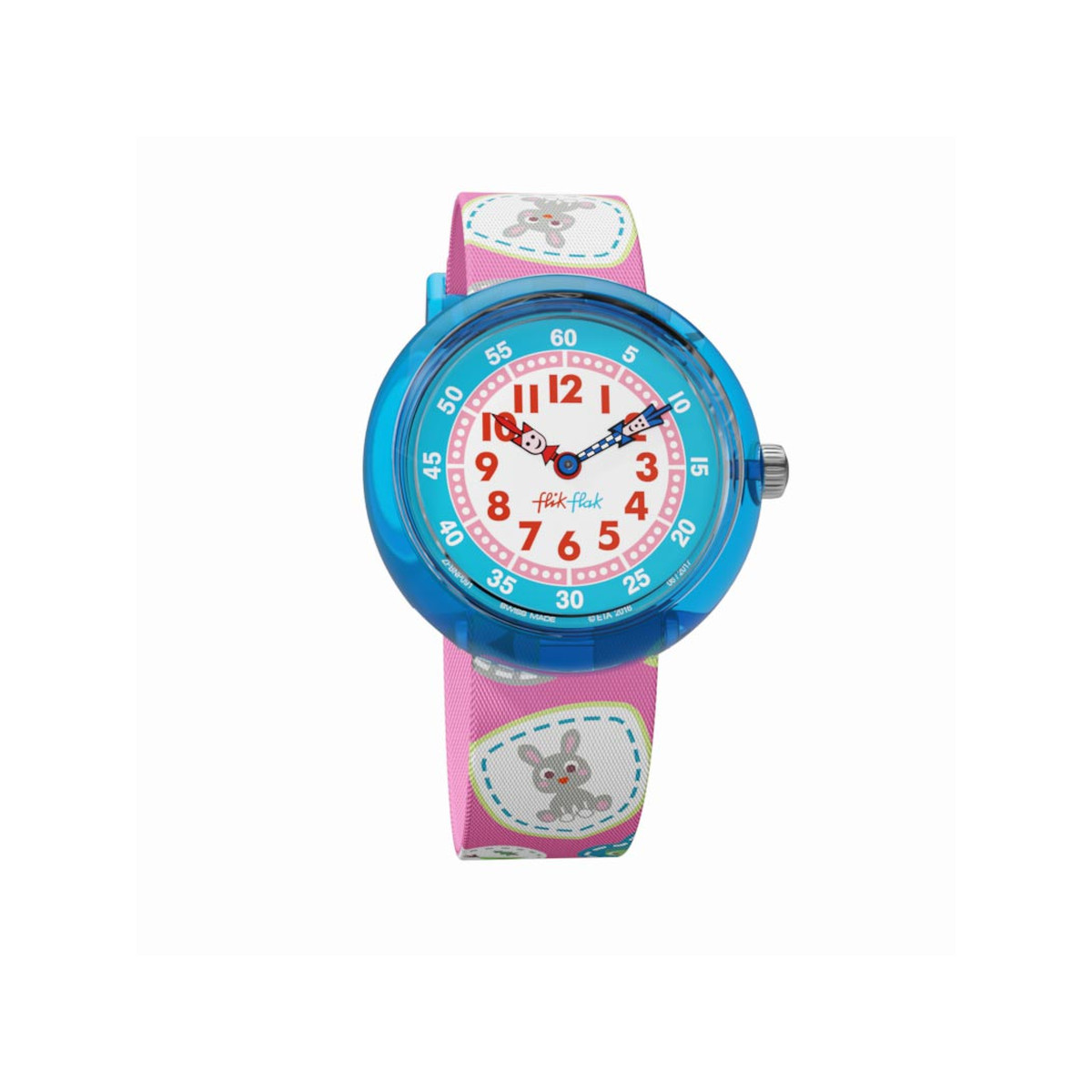 Montre Flik Flak fille Camping Badge Pink