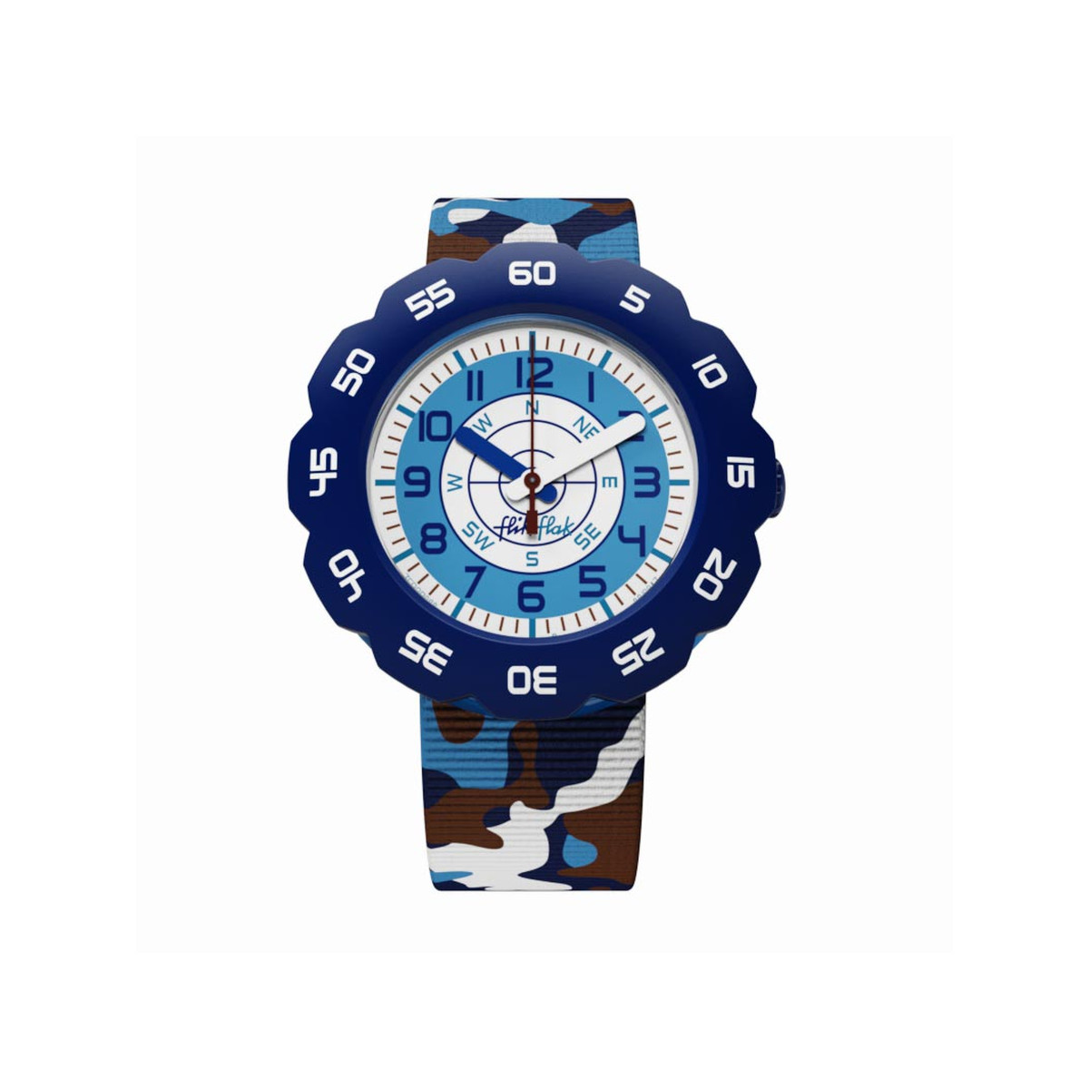 Montre Flik Flak mixte Over Mission