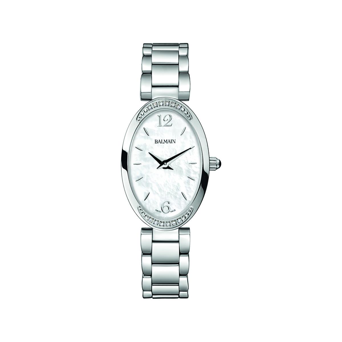 service durable gamme exceptionnelle de styles et de couleurs Style magnifique Montre Balmain femme acier diamant