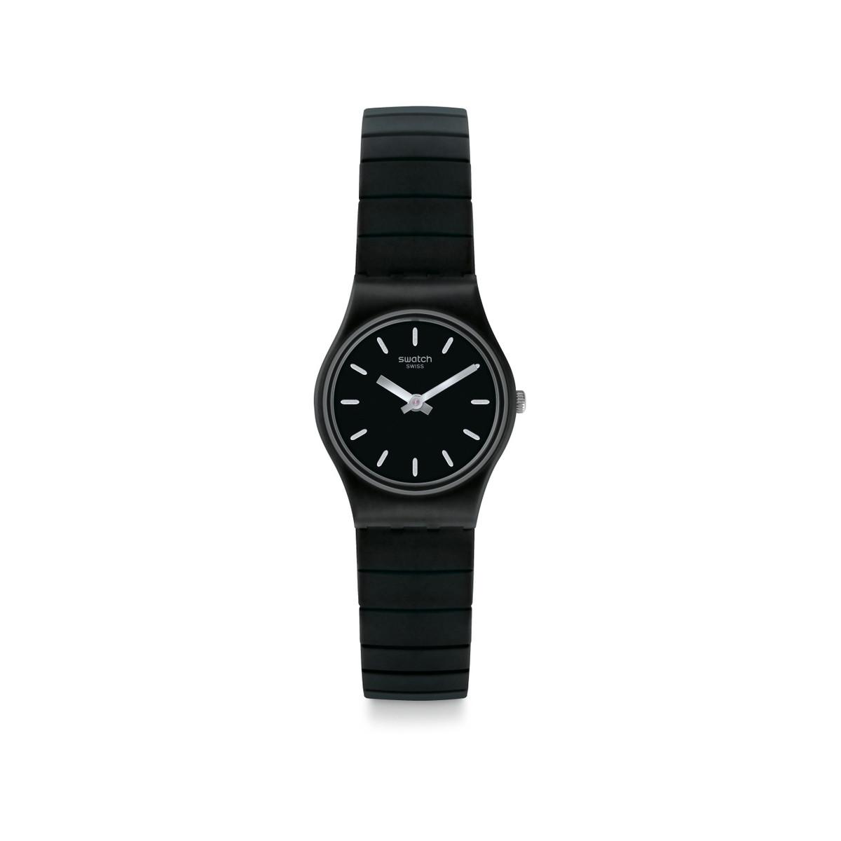 bb59a28a3c Montre Swatch mixte acier plastique noir - Femme - modèle LB183B | MATY