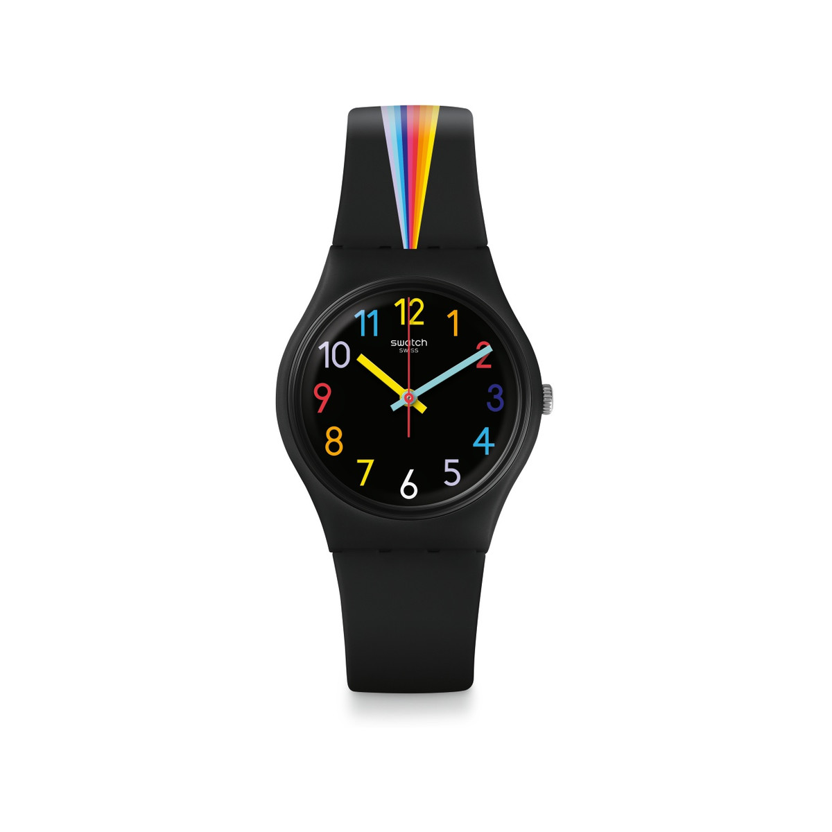 Montre Swatch femme Fountain of colors plastique - vue V1