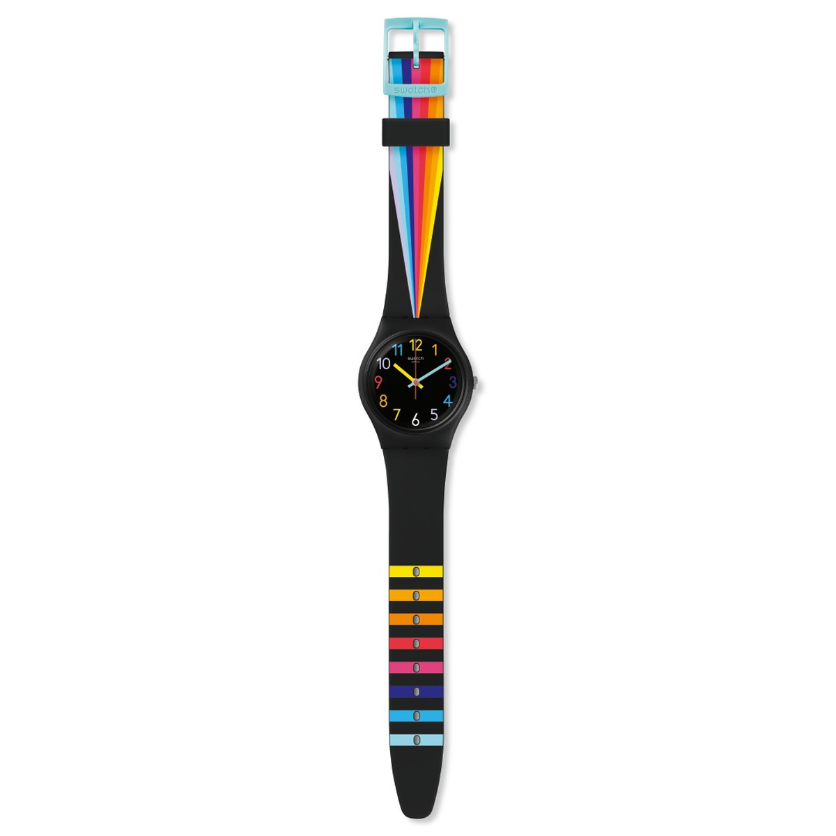 Montre Swatch femme Fountain of colors plastique - vue VD1