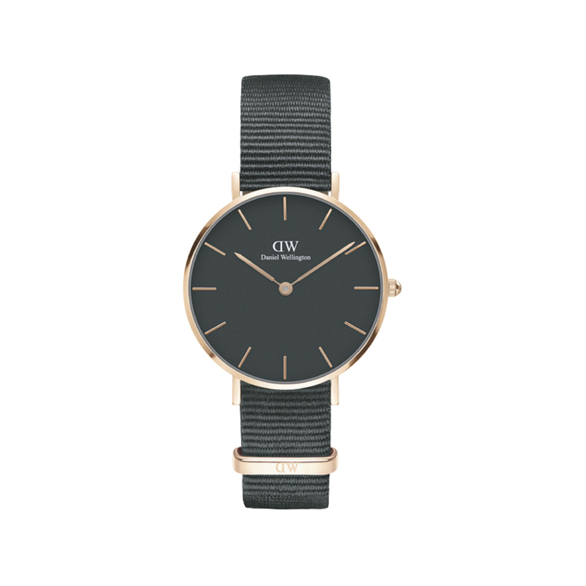 montre daniel wellington femme acier tissu noir femme mod le dw00100215 maty. Black Bedroom Furniture Sets. Home Design Ideas