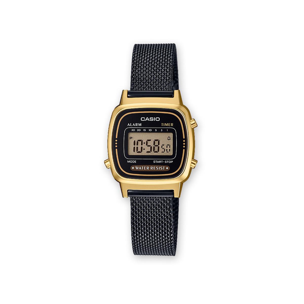 Montre Casio femme digitale acier noir - Femme - modèle LA670WEMB ... d612c3138ed9