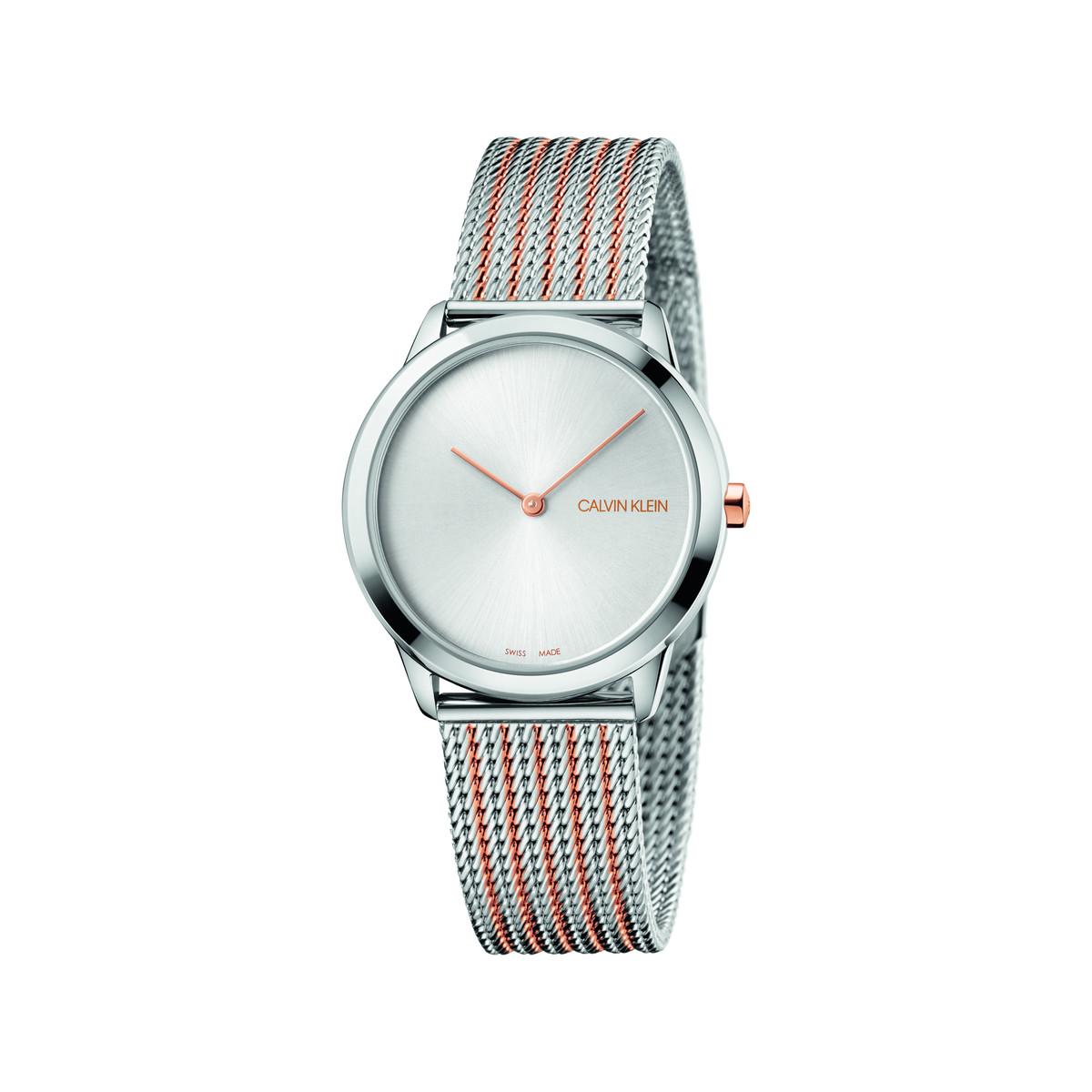 sélection premium 08fb4 dd741 Montre Calvin Klein femme milanais acier bicolore