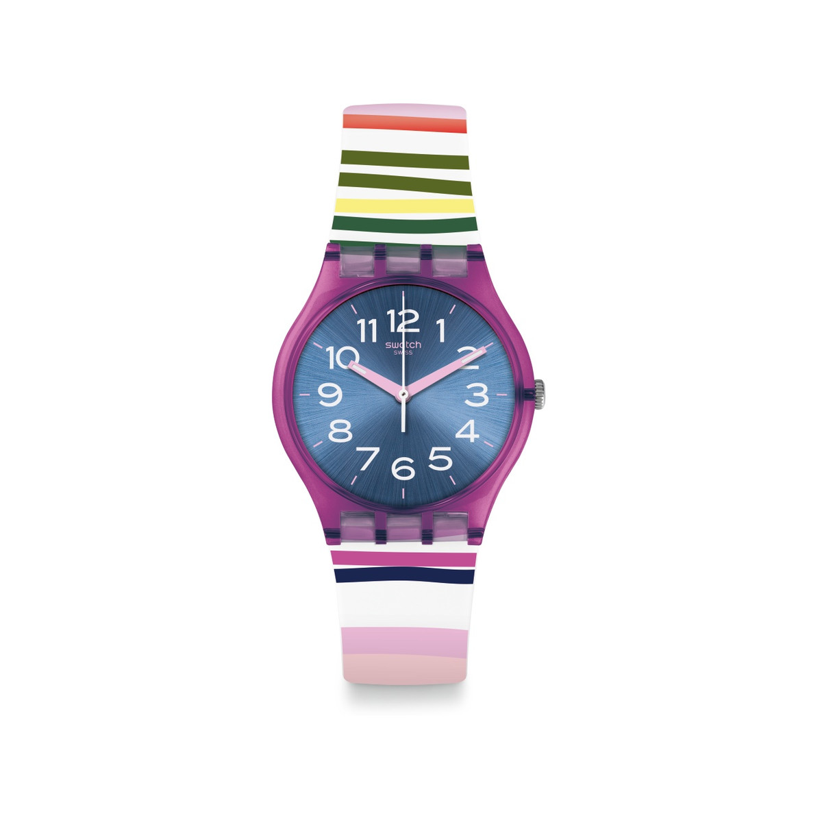 Montre Swatch Funny lines femme silicone multico - vue V1