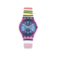 Montre Swatch Funny lines femme silicone multico