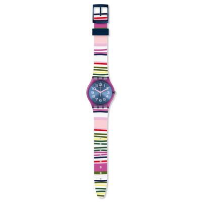 Montre Swatch Funny lines femme silicone multico - vue VD1