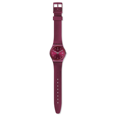 Montre Swatch Redbaya femme silicone rouge - vue VD1