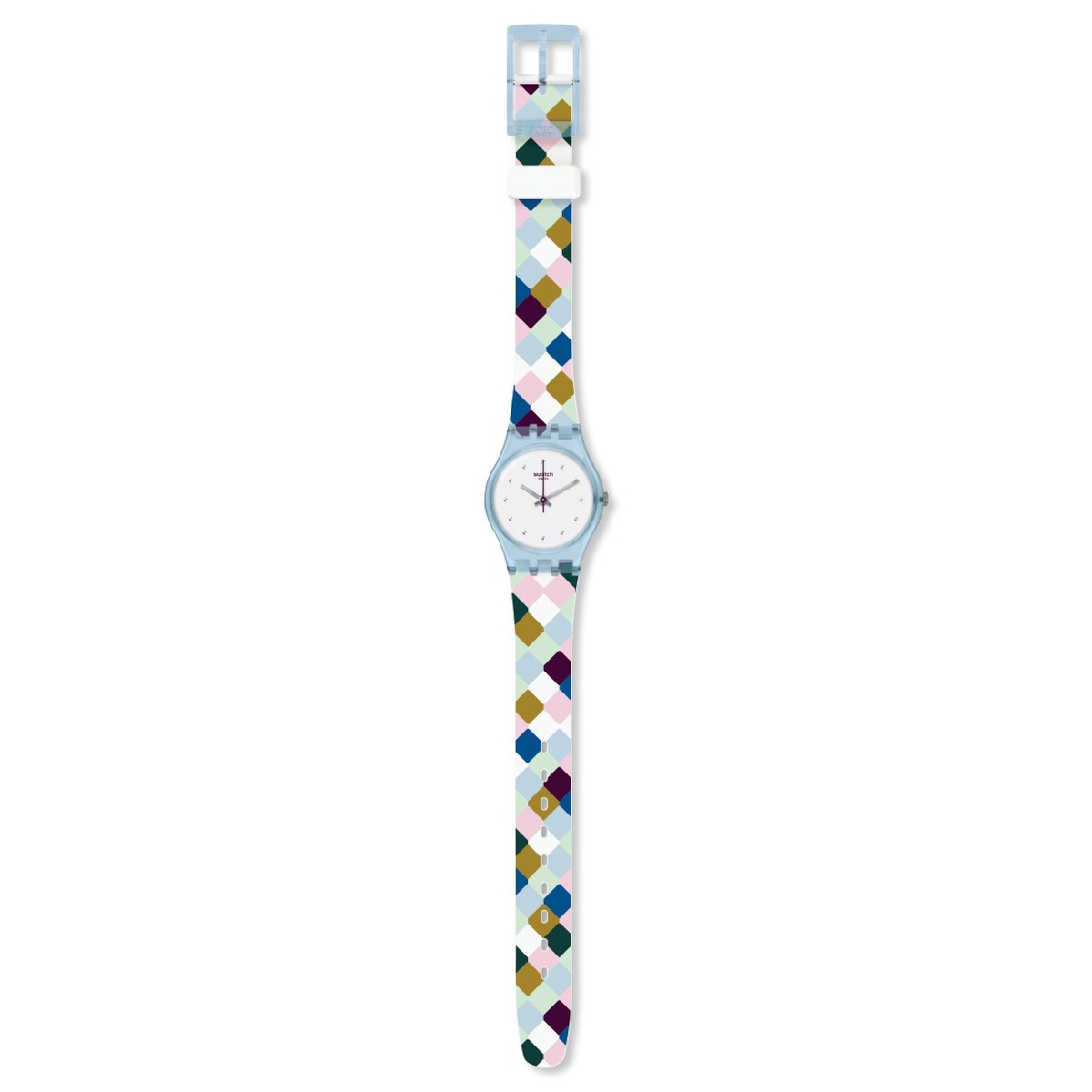 Montre Swatch Arle Queen femme silicone multicol - vue VD1