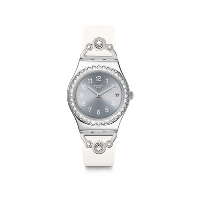 Montre Swatch Pretty in white femme ac caout blanc - vue V1