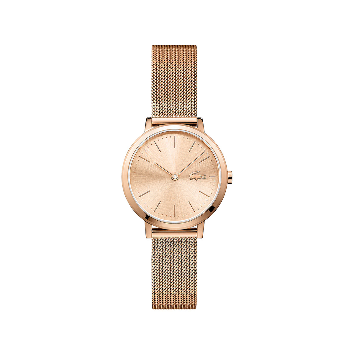 c4d9533675 Montre Lacoste femme acier doré rose milanais - Femme - modèle ...
