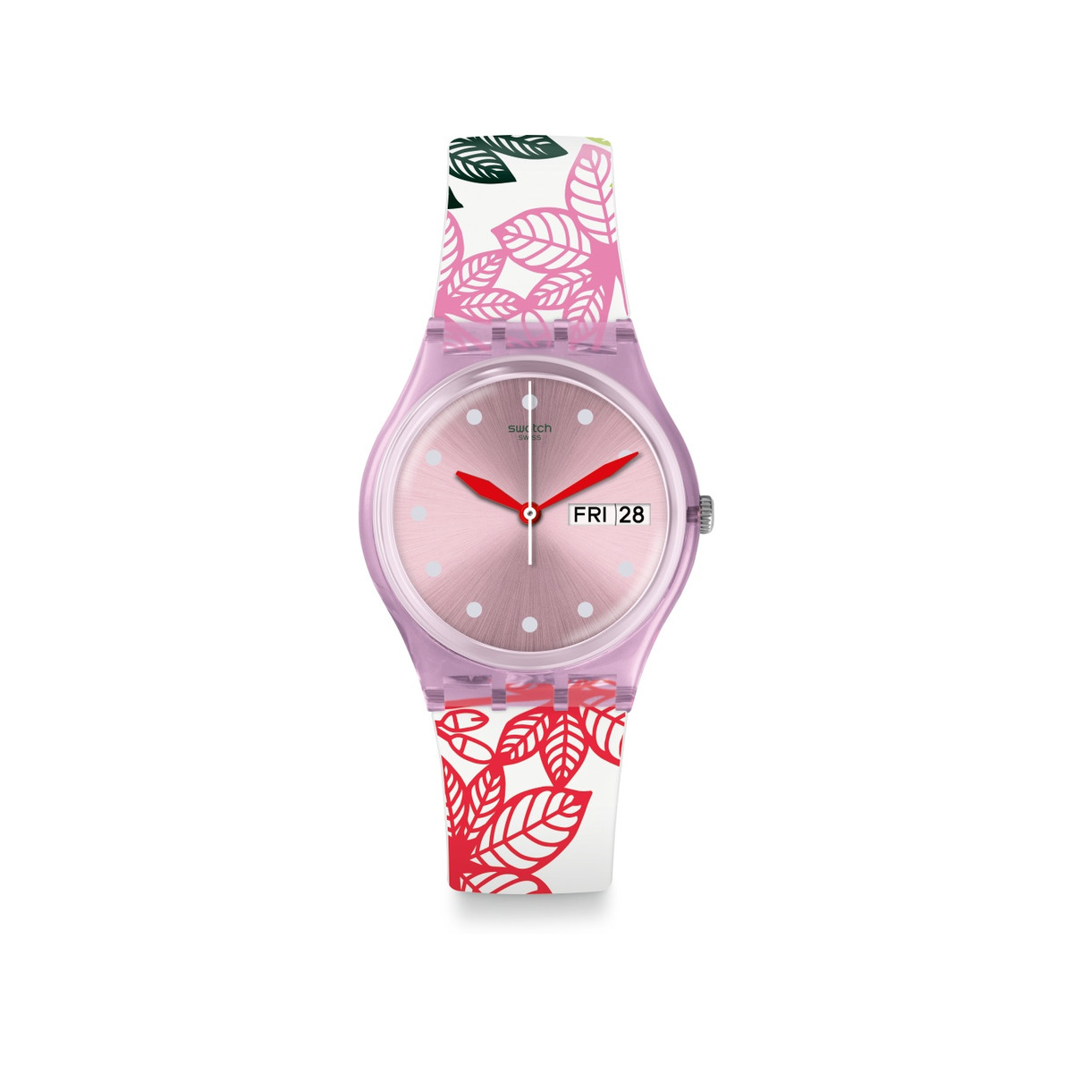 Montre Swatch transformation femme silicone - vue V1