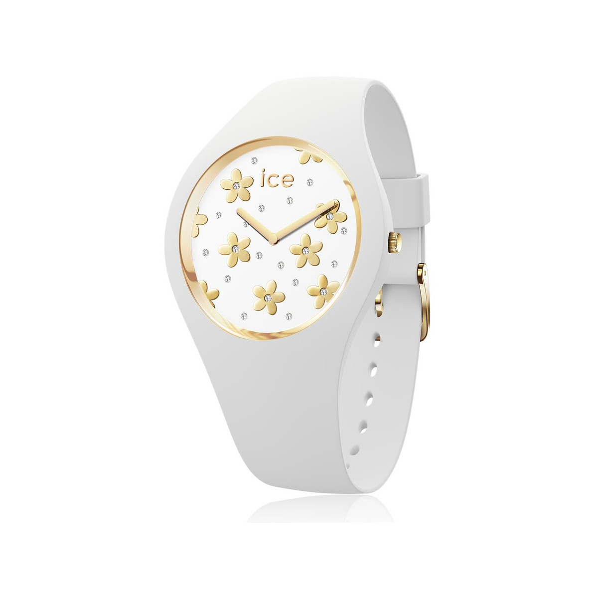 Montre Ice-watch flower femme silicone blanc