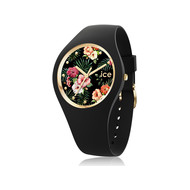 Montre Ice-watch flower femme silicone noir