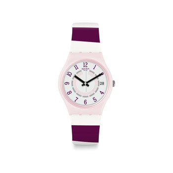 Montre Swatch femme silicone violet rose