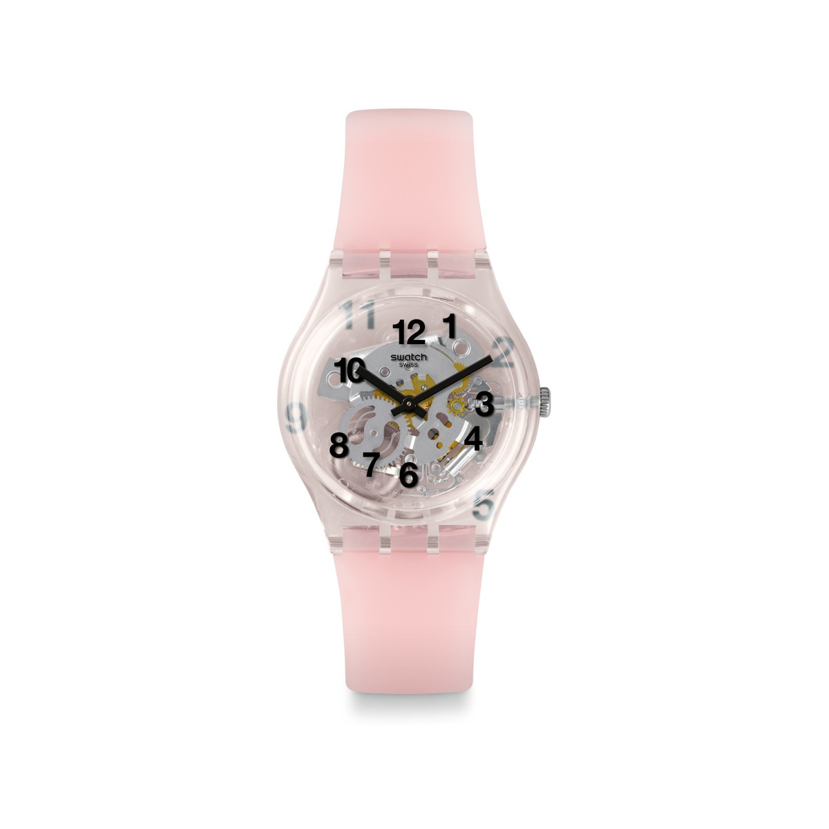 Montre Swatch femme silicone rose - vue 1
