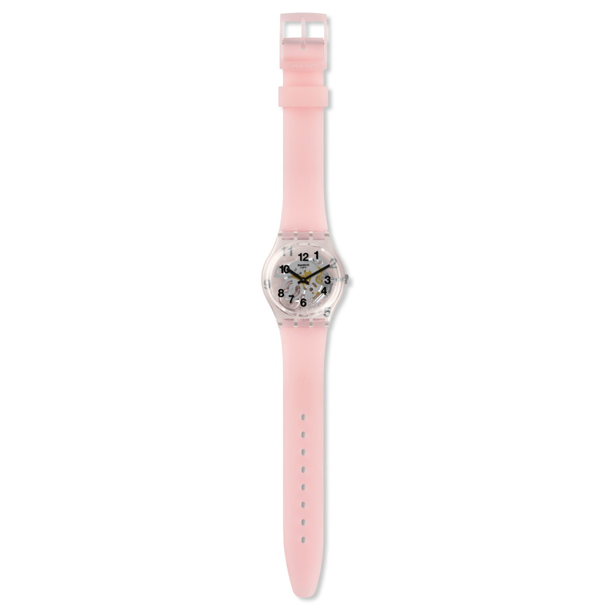 Montre Swatch femme silicone rose - vue VD1