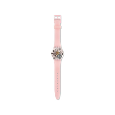 Montre Swatch femme silicone rose - vue VD2